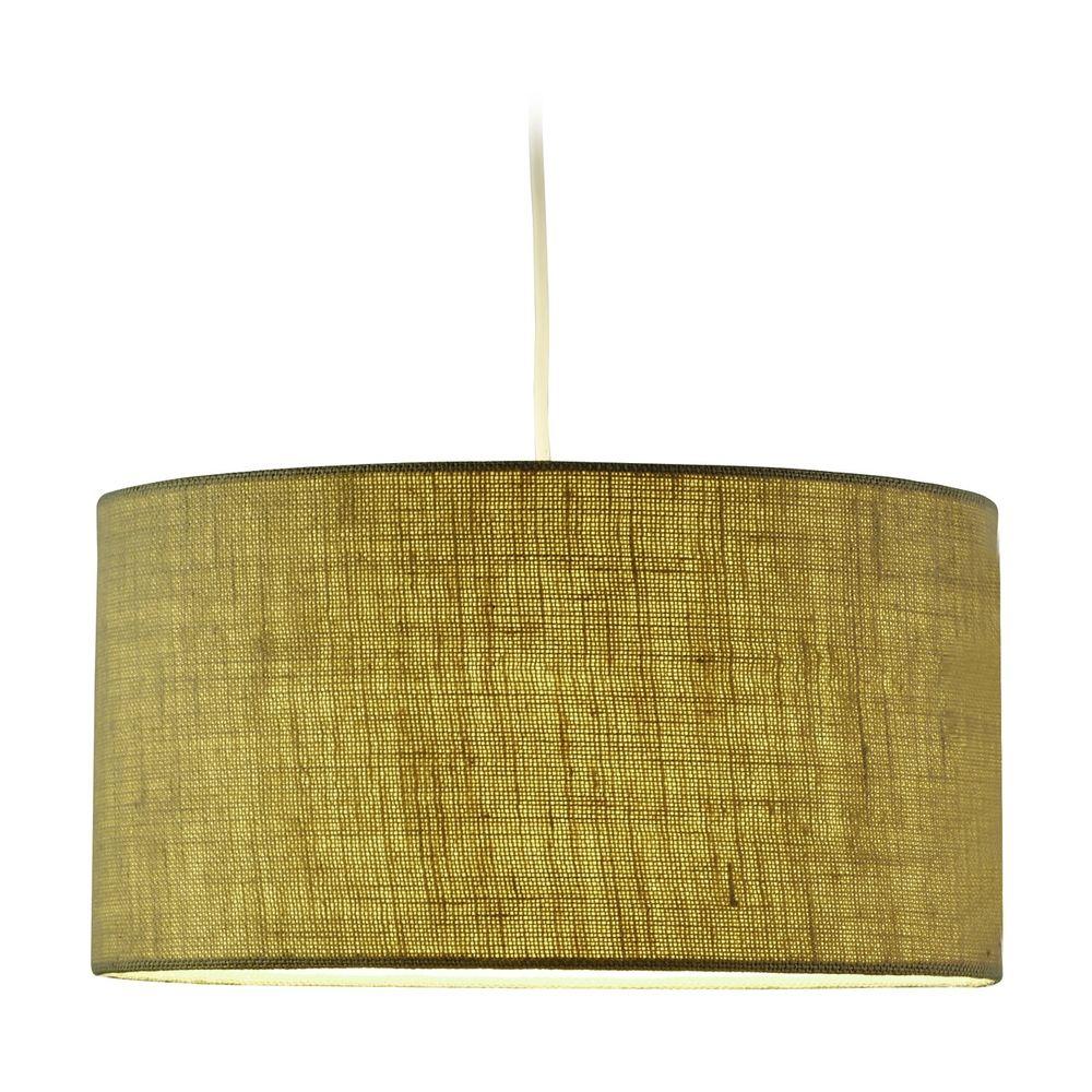 Adesso home lighting harvest burlap pendant light 4001 for Burlap lights