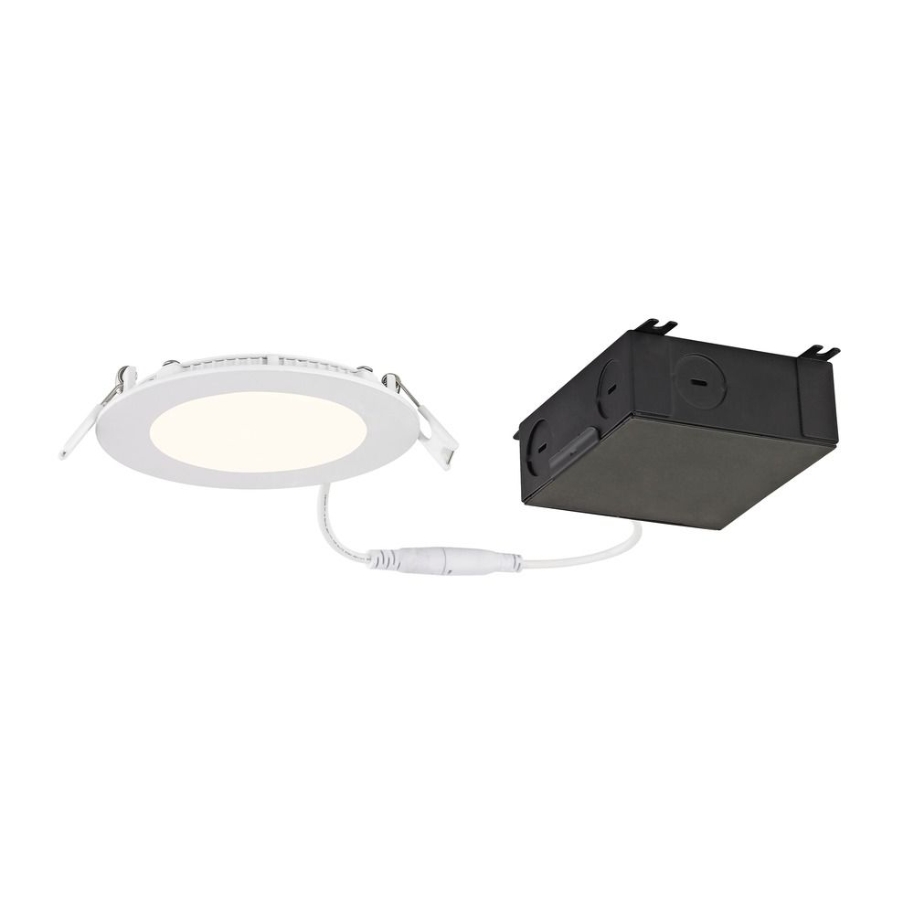4 shallow canless led recessed light 2700k 650lm ic and airtight product image aloadofball Images