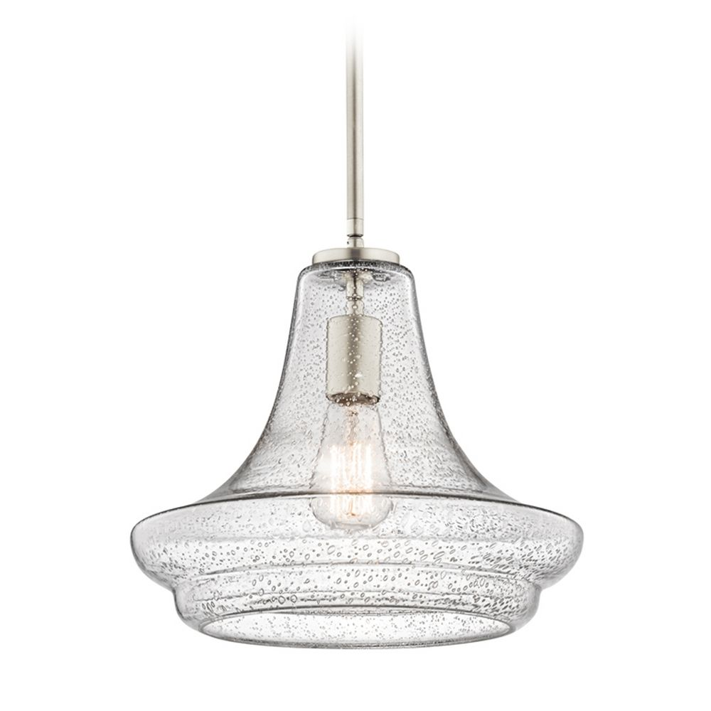 Kichler Lighting Everly Brushed Nickel Pendant Light With Urn Shade At Destination
