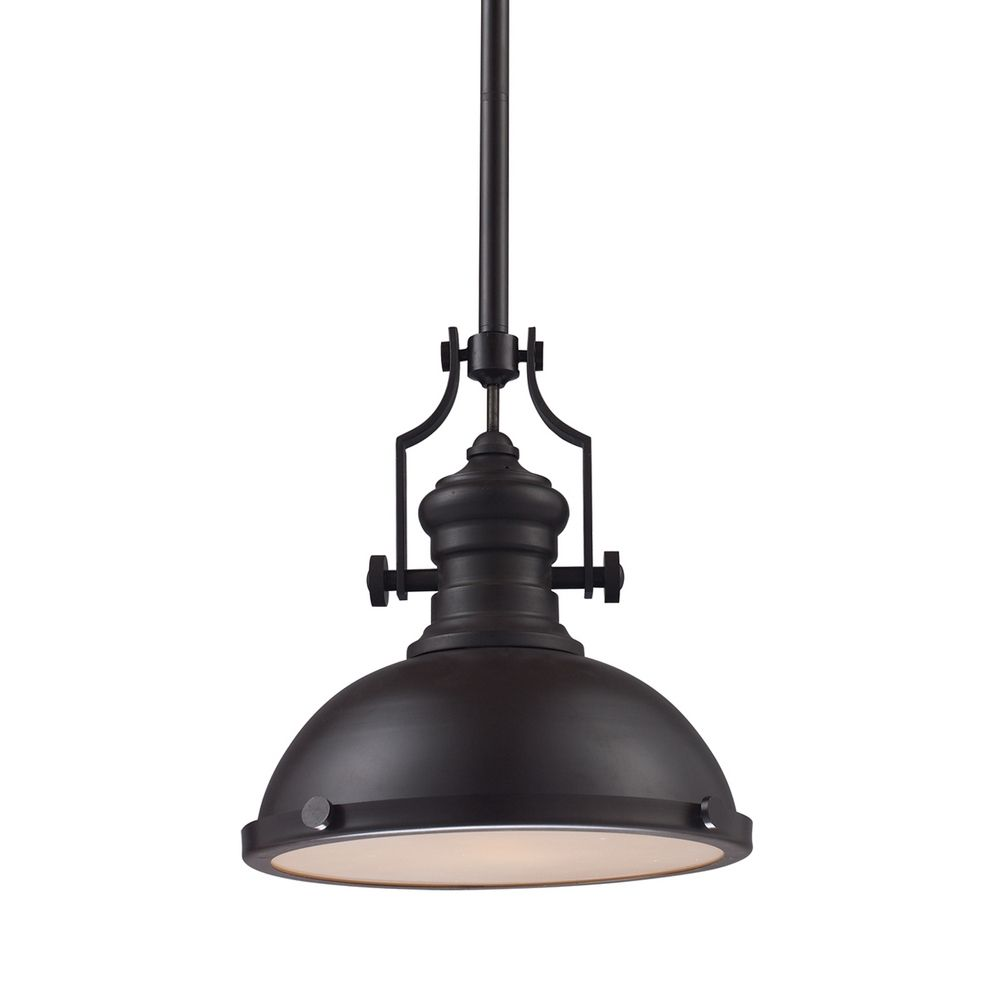 13 Inch Oiled Bronze Vintage Pendant Light