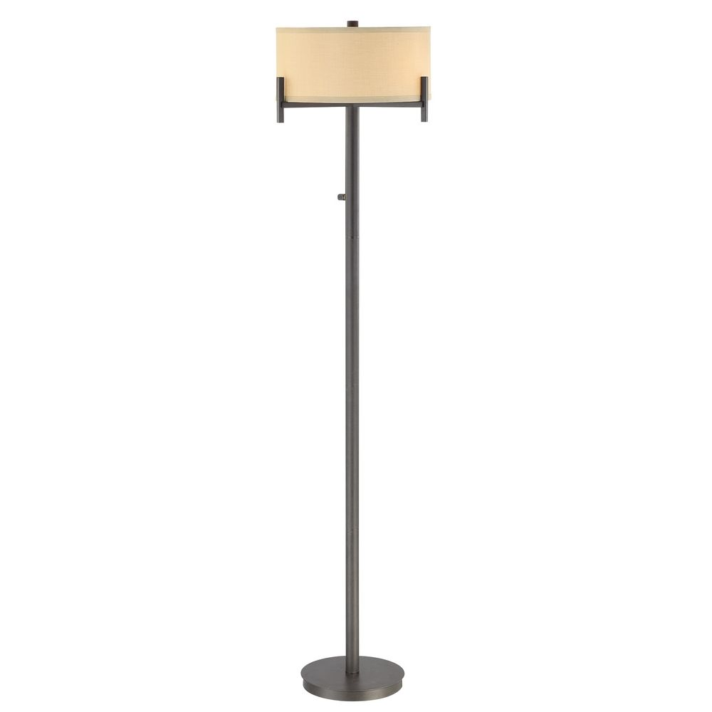 designs lighting contemporary floor lamp with beige drum shade 2949 34. Black Bedroom Furniture Sets. Home Design Ideas