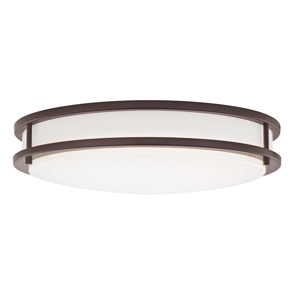 led flush ceiling light bronze 17 inch 3016 90 30 destination