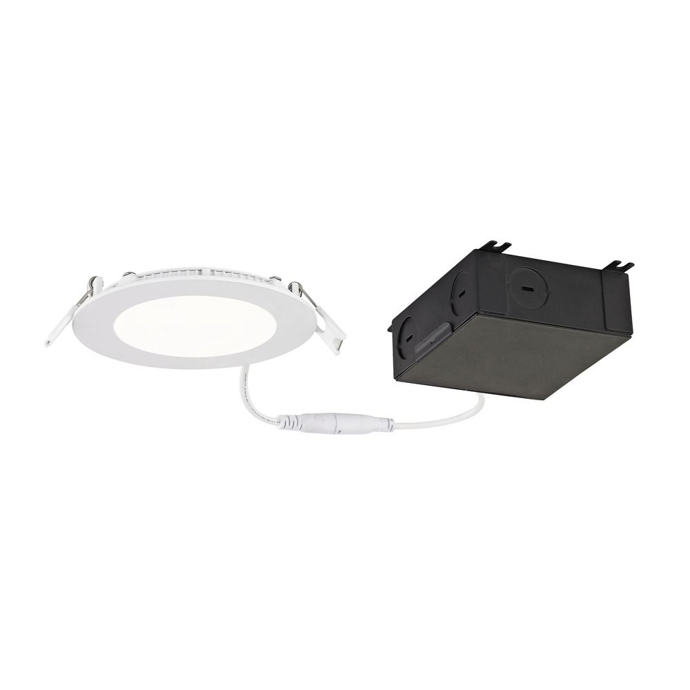4 shallow canless led recessed light 3000k 650lm ic and airtight
