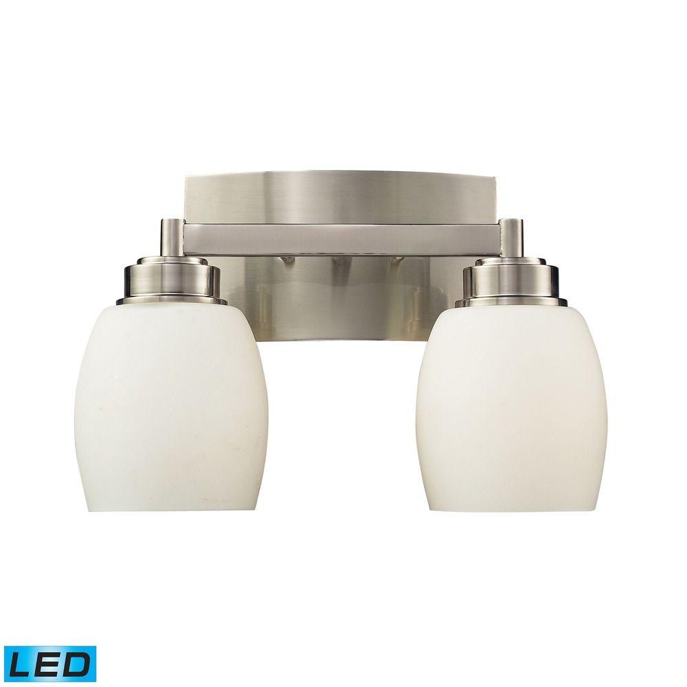 Elk Lighting Northport Satin Nickel Led Bathroom Light 17101 2 Led Destination Lighting