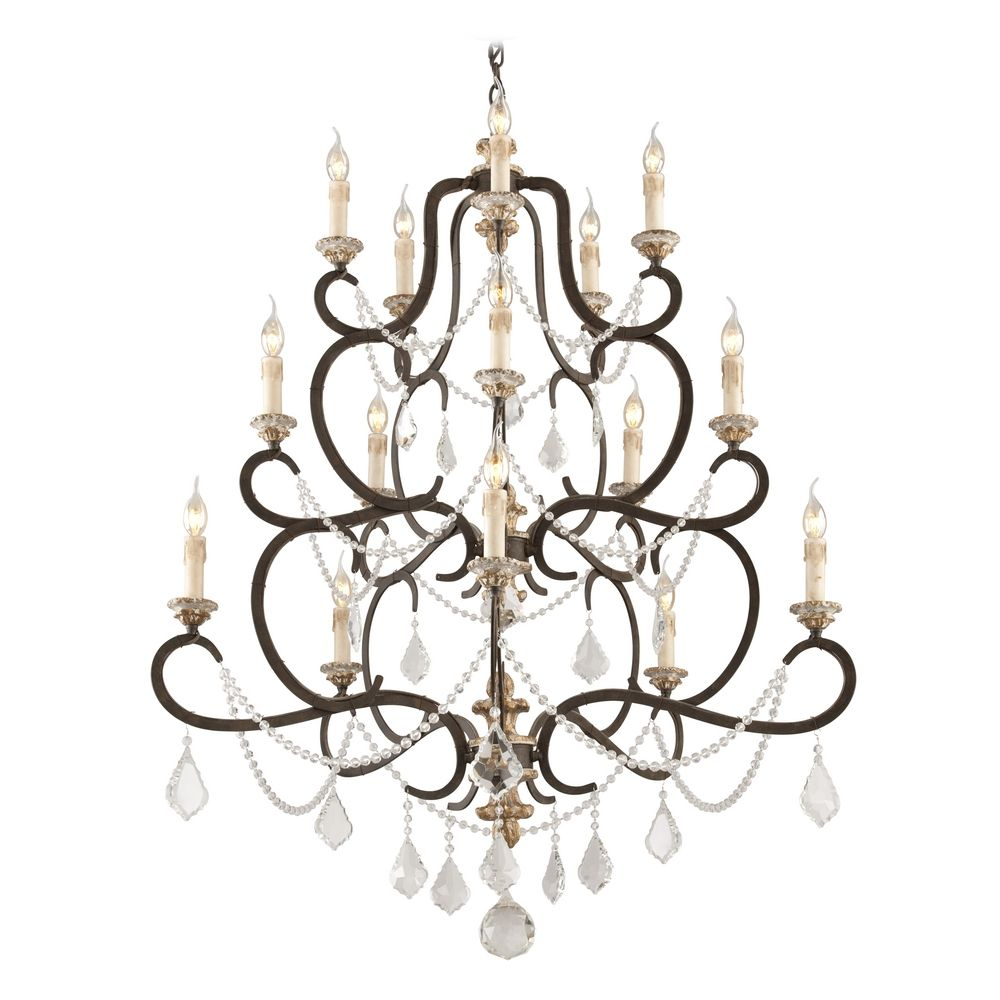 Crystal Chandelier In Parisian Bronze Finish F3517