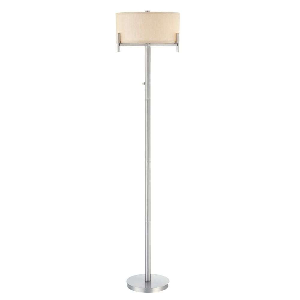 designs lighting contemporary floor lamp with beige drum shade 2949 09. Black Bedroom Furniture Sets. Home Design Ideas