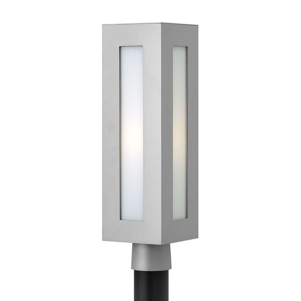 Modern post light with white glass in titanium finish 2191tt gu24 hinkley lighting modern post light with white glass in titanium finish 2191tt gu24 mozeypictures Choice Image