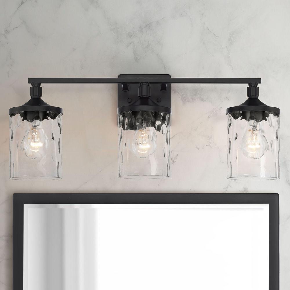 Homeplace By Capital Lighting Colton Matte Black Bathroom Light 128831mb 451 Destination Lighting