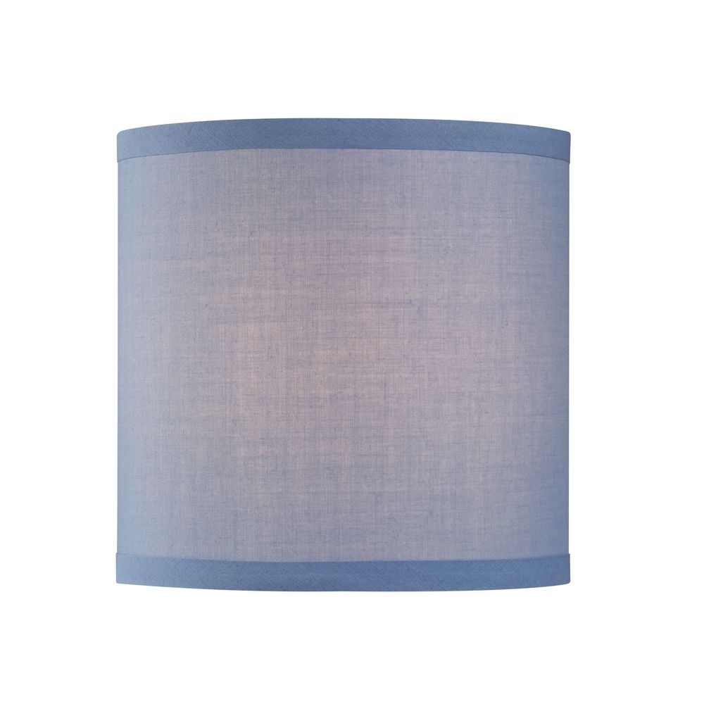 Design Clics Lighting Uno Drum Lamp Shade In Blue Linen Sh9526
