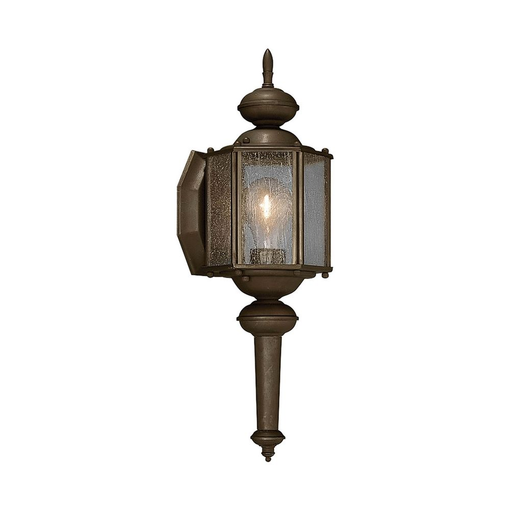 Bronze Finish Wall Lights : Outdoor Wall Light with Clear Glass in Antique Bronze Finish P5773-20 Destination Lighting