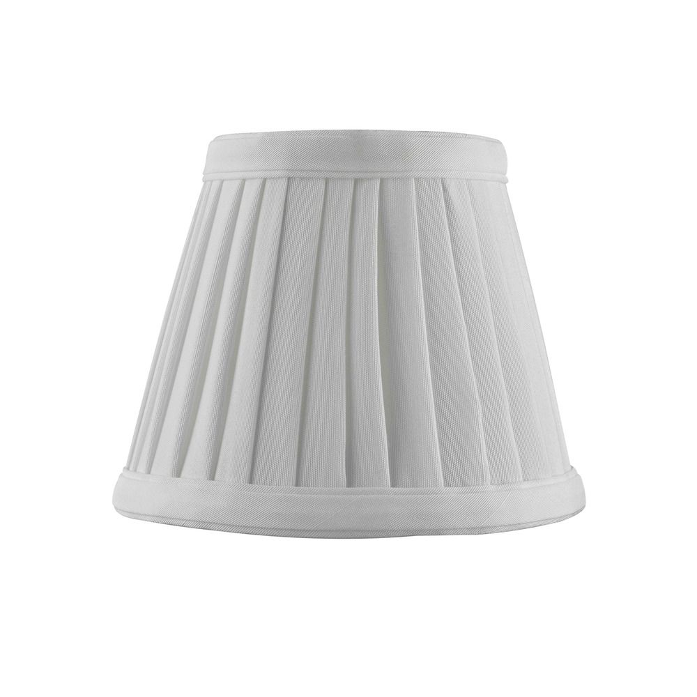 Clip On Empire Pleated White Lamp Shade Sh9658
