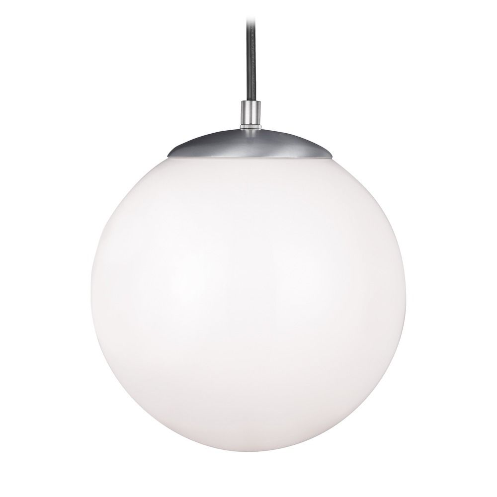 Mid century modern led mini pendant light aluminum hanging for Mid century modern globe pendant light