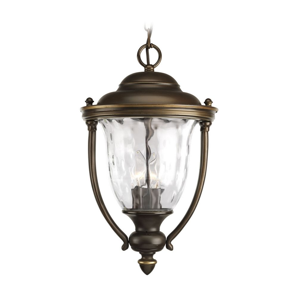 Progress Oil Rubbed Bronze Outdoor Hanging Light With