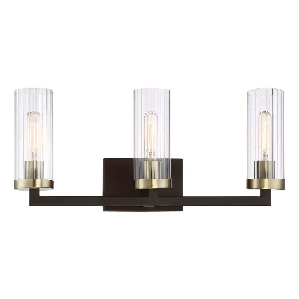 Mid Century Modern Bathroom Light Bronze Brass Ainsley