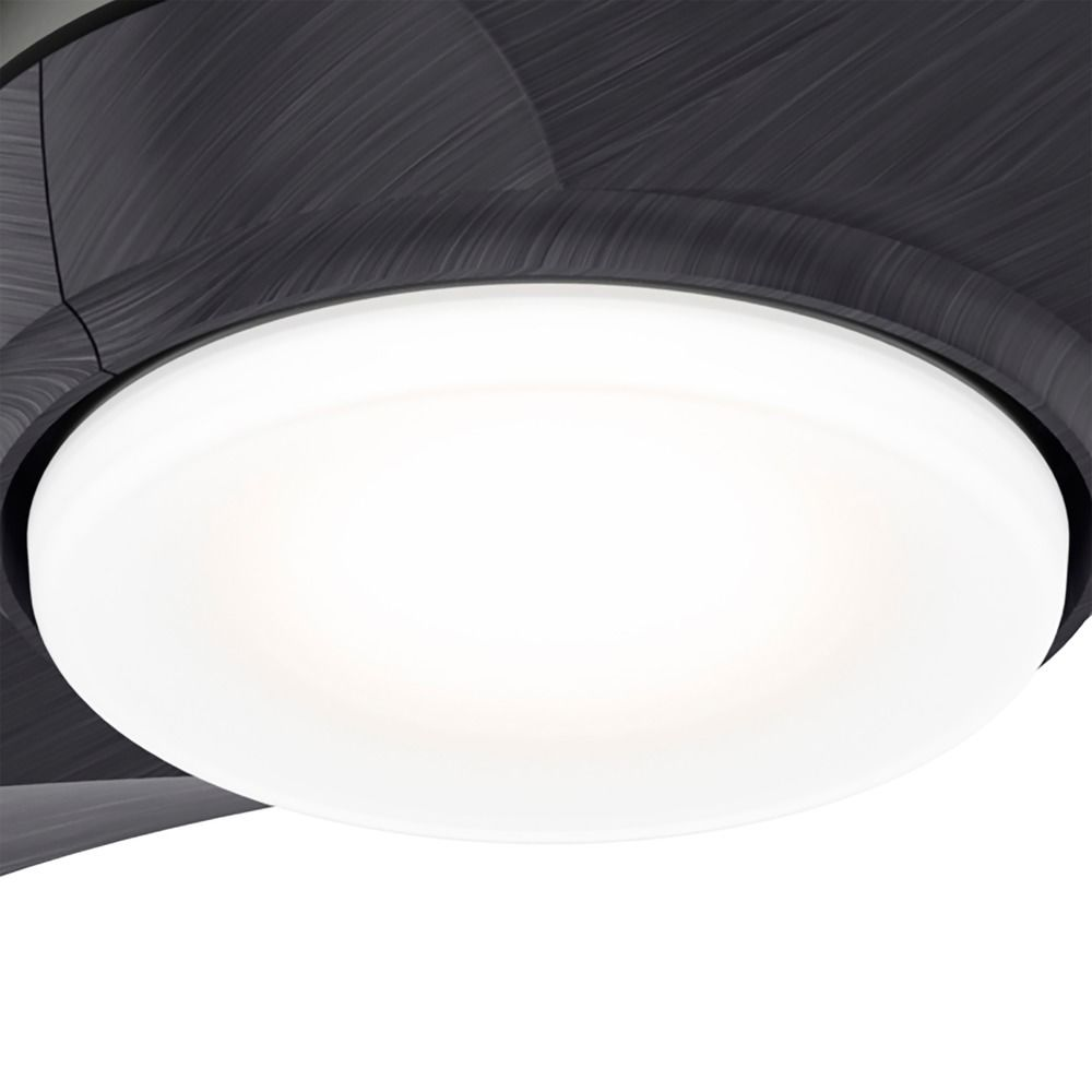 Hunter Ceiling Fan With Light 56 Inch Milstream In Matte Silver 50735 Destination Lighting