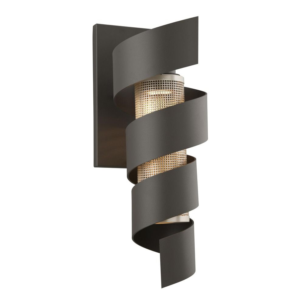 Led Wall Lights Outdoor: Troy Lighting Vortex Bronze LED Outdoor Wall Light
