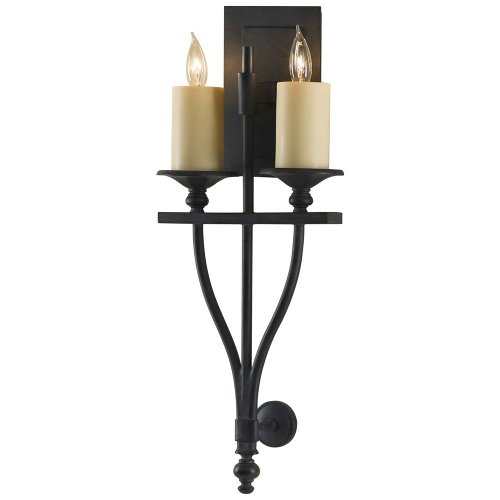 Iron Wall Sconces Lighting : Sconce Wall Light in Antique Forged Iron Finish WB1469AF Destination Lighting