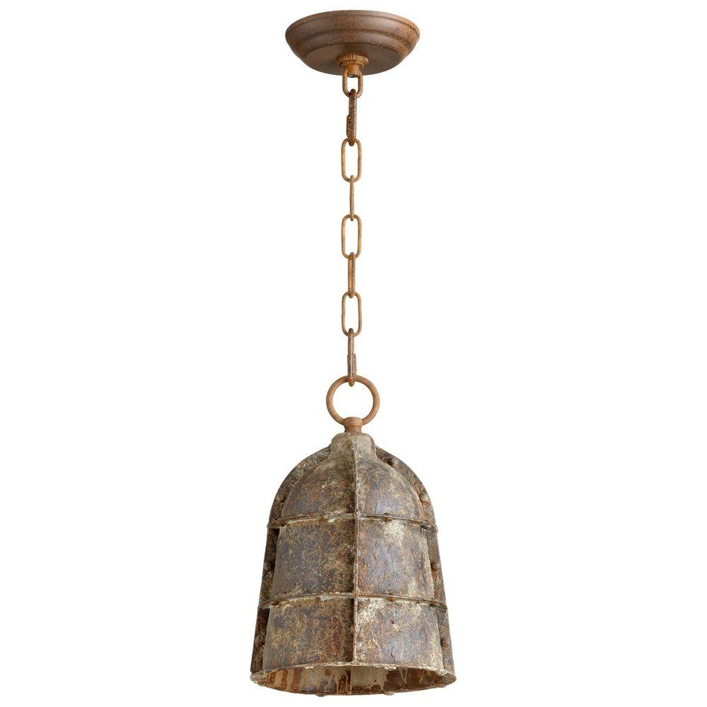 cyan design rusto rustic mini pendant light with bowl dome shade 06260 destination lighting. Black Bedroom Furniture Sets. Home Design Ideas