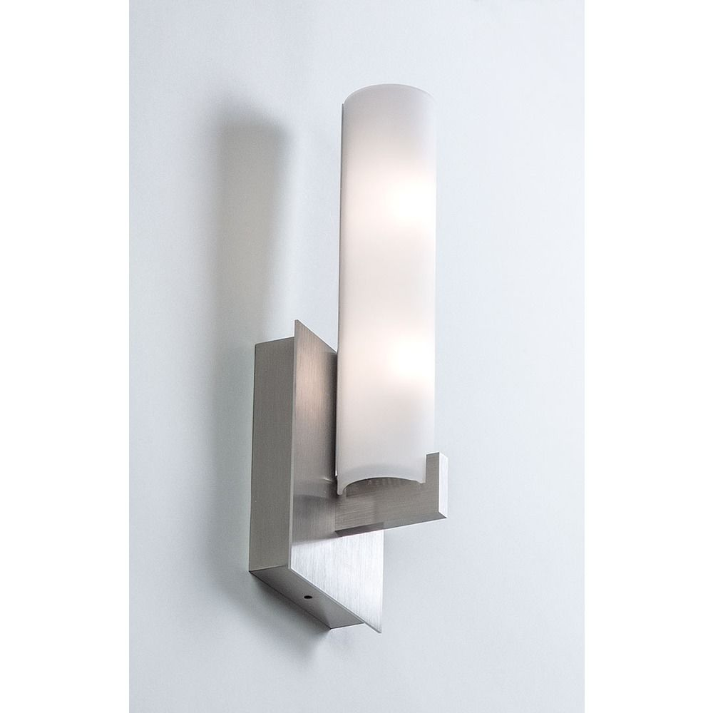 illuminating experiences elf  satin nickel sconce  elfisn  - illuminating experiences elf  satin nickel sconce alt