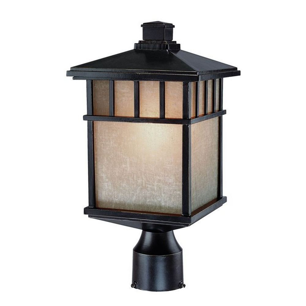 Outdoor Post Lights Led: 16-1/2-Inch Outdoor Post Light With LED Bulb