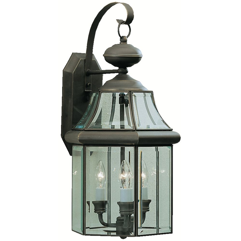 Kichler Outdoor Wall Light With Clear Glass In Olde Bronze