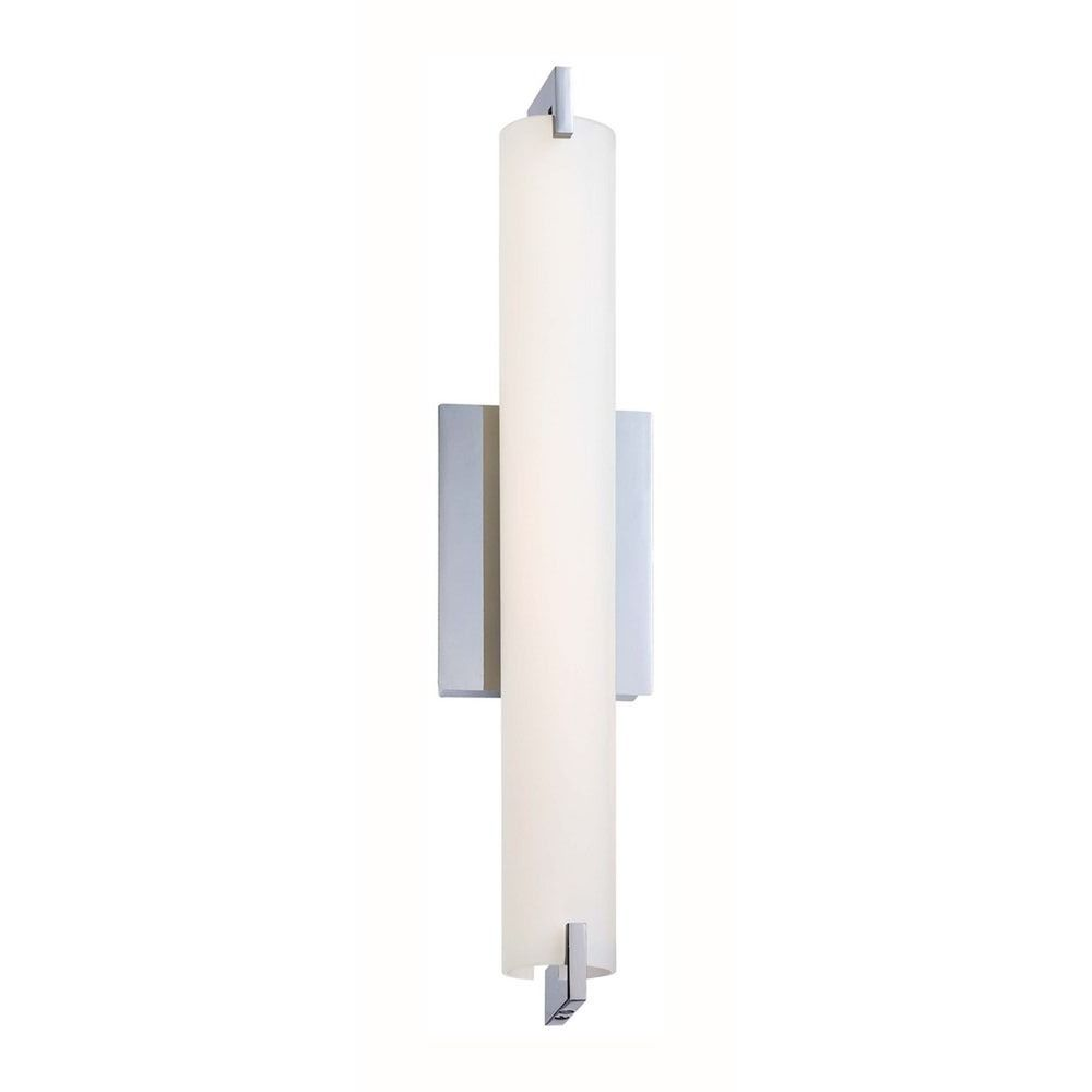 Tube Chrome LED Bathroom Light - Vertical or Horizontal ...