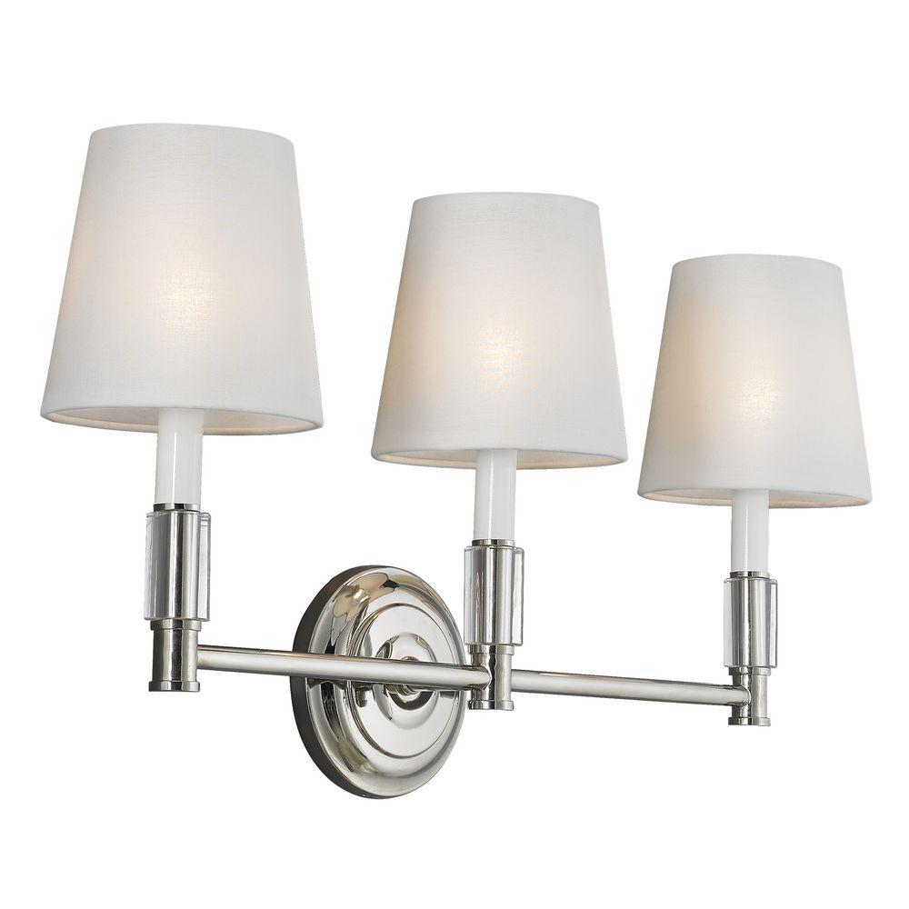 Feiss lighting lismore polished nickel bathroom light for Polished nickel bathroom lighting