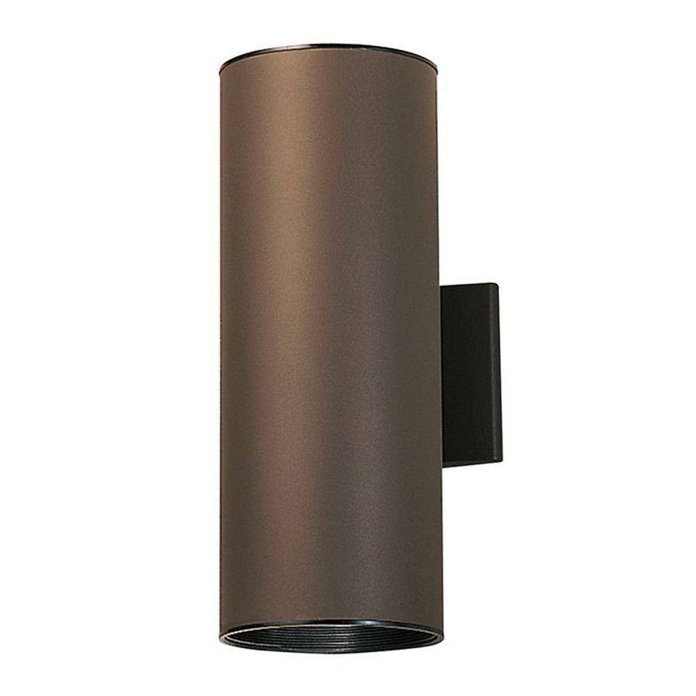 Kichler Cylindrical Outdoor Wall Light with Two LED Bulbs