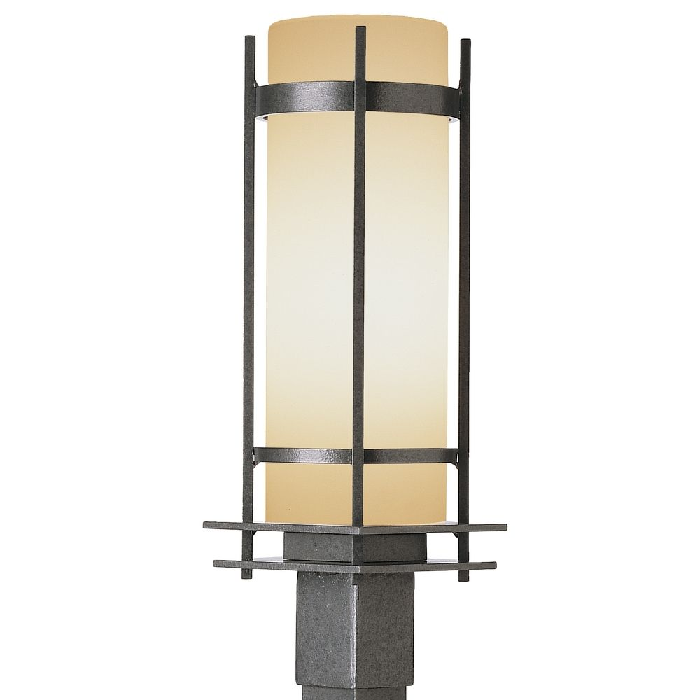 Outdoor Post Light With Cylinder Glass Shade