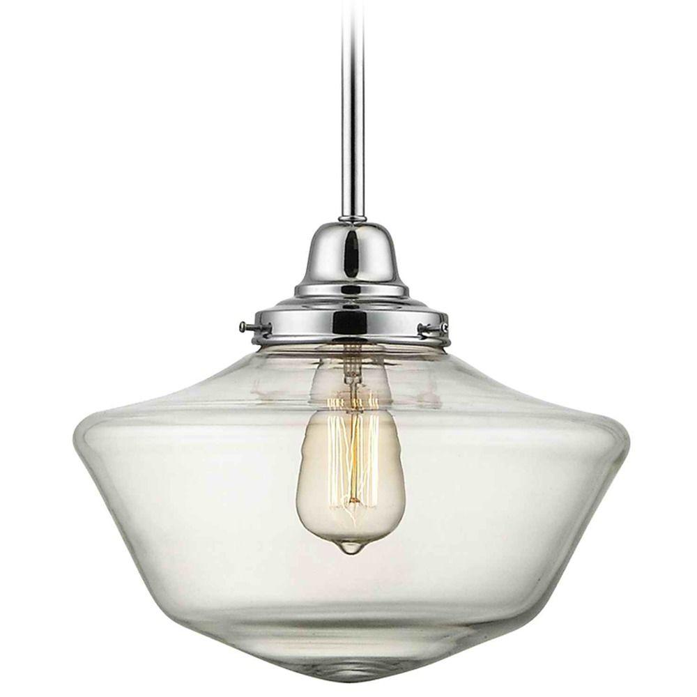 design classics lighting modern hanging globe. brand: design classics lighting · 12-inch clear glass schoolhouse pendant light in chrome finish modern hanging globe