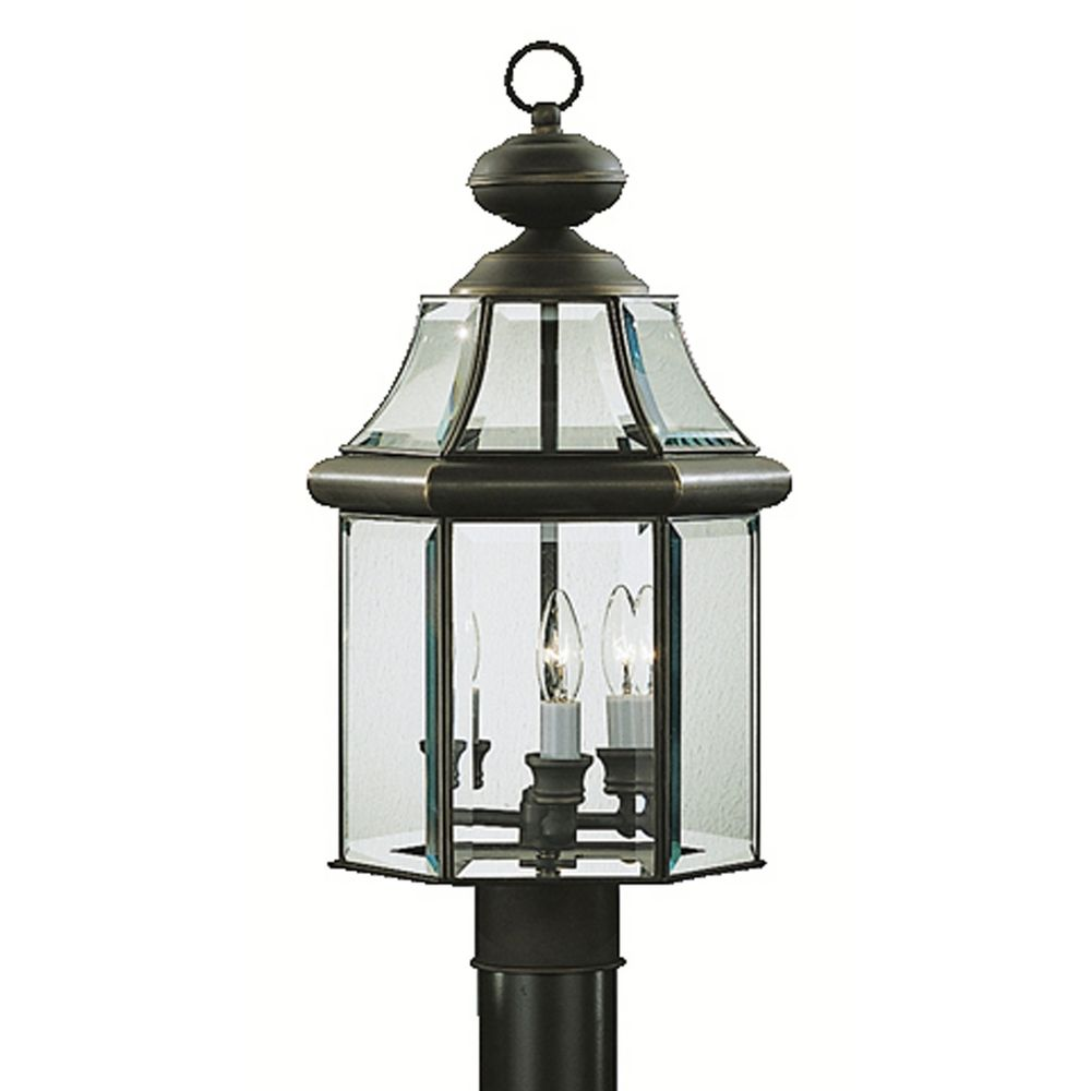 Kichler Lighting Lights: Kichler Post Light With White Glass In Olde Bronze Finish