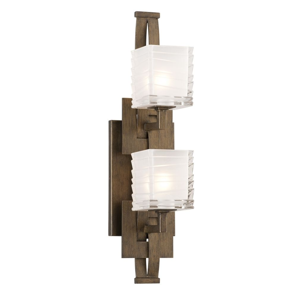 Vanity Lighting Vertical : Vertical Bathroom Light with White Glass in Danish Bronze Finish B3584 Destination Lighting