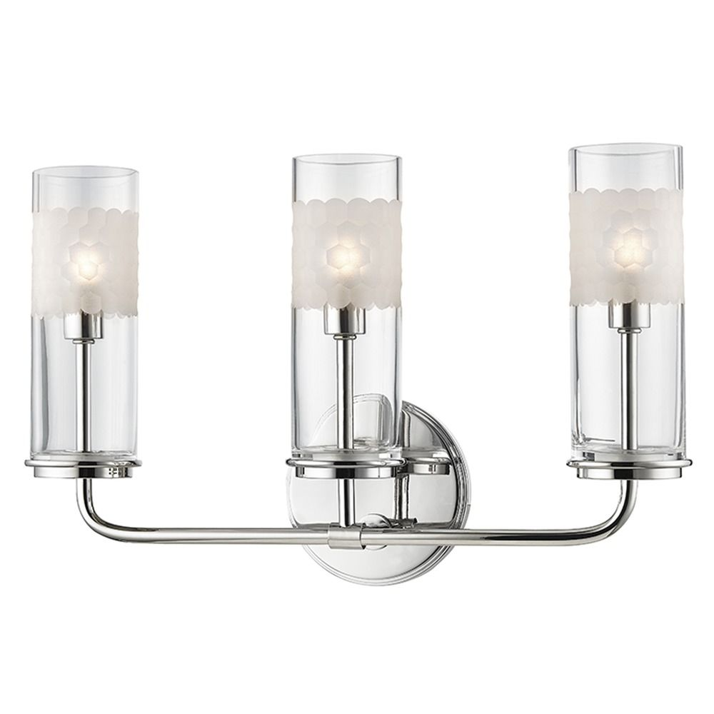 Mid Century Modern Bathroom Light Polished Nickel Wentworth By Hudson Valley 3903 Pn
