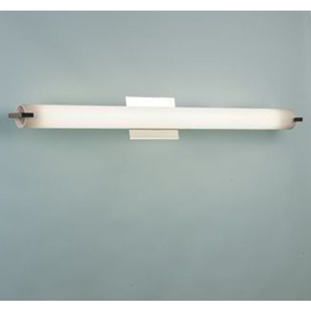 elf satin nickel bathroom light  vertical or horizontal mounting  - product image