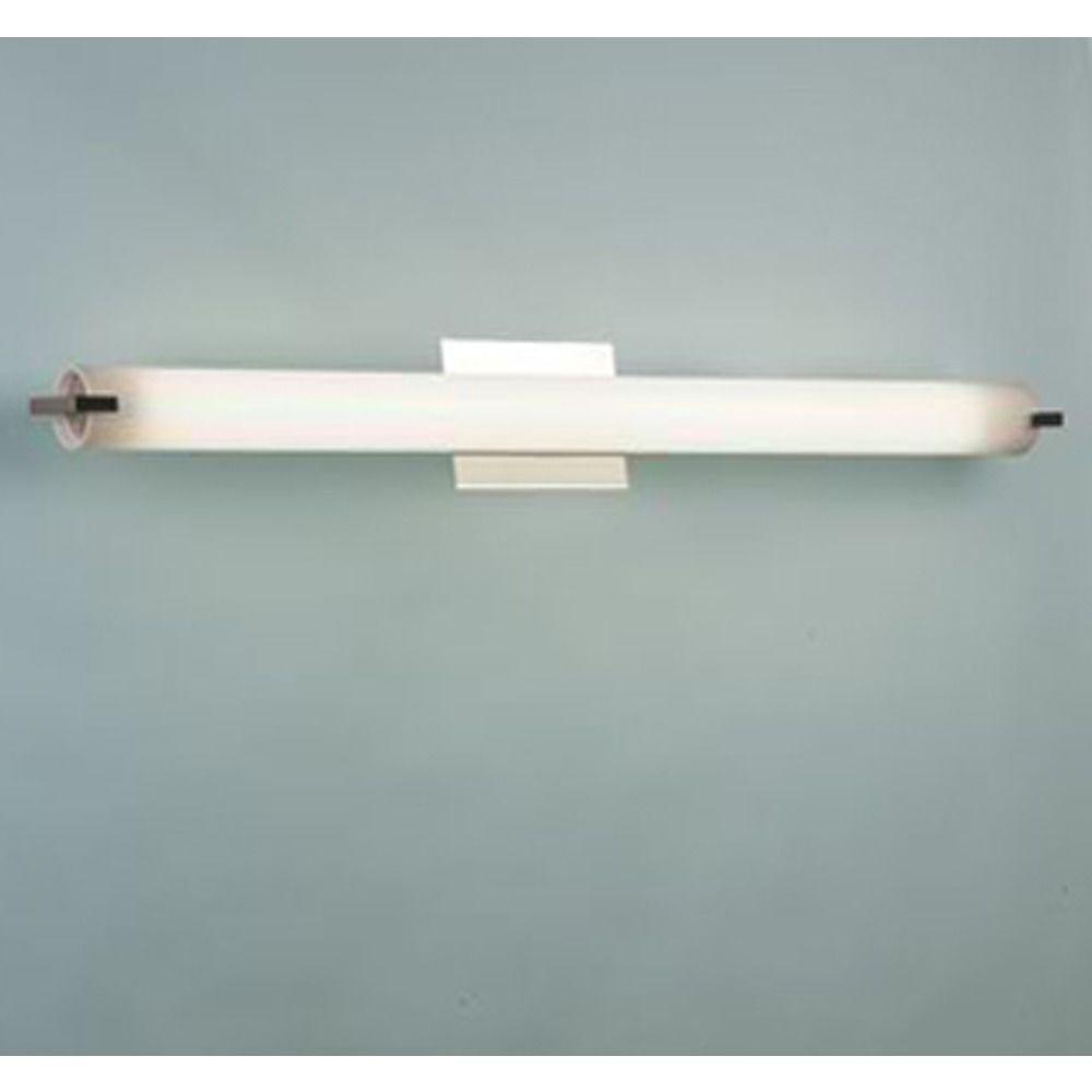Elf Satin Nickel Bathroom Light Vertical Or Horizontal Mounting - Horizontal bathroom light fixtures