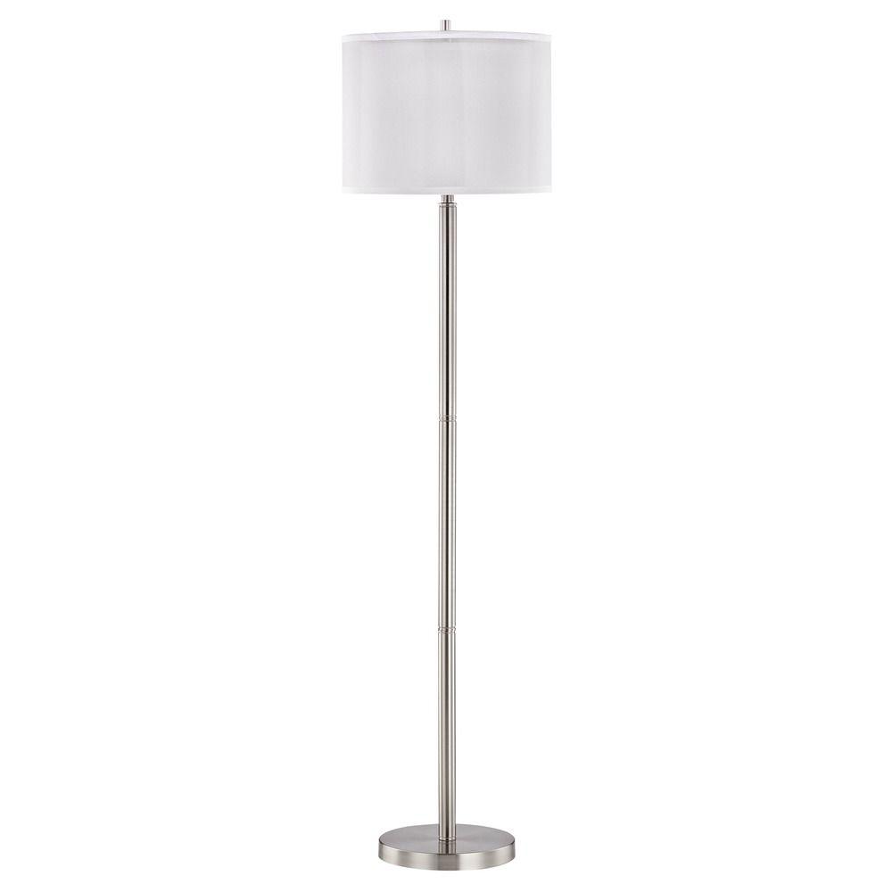 Double organza 3way floor lamp with drum shade satin nickel 15060 double organza 3way floor lamp with drum shade satin nickel off aloadofball Choice Image