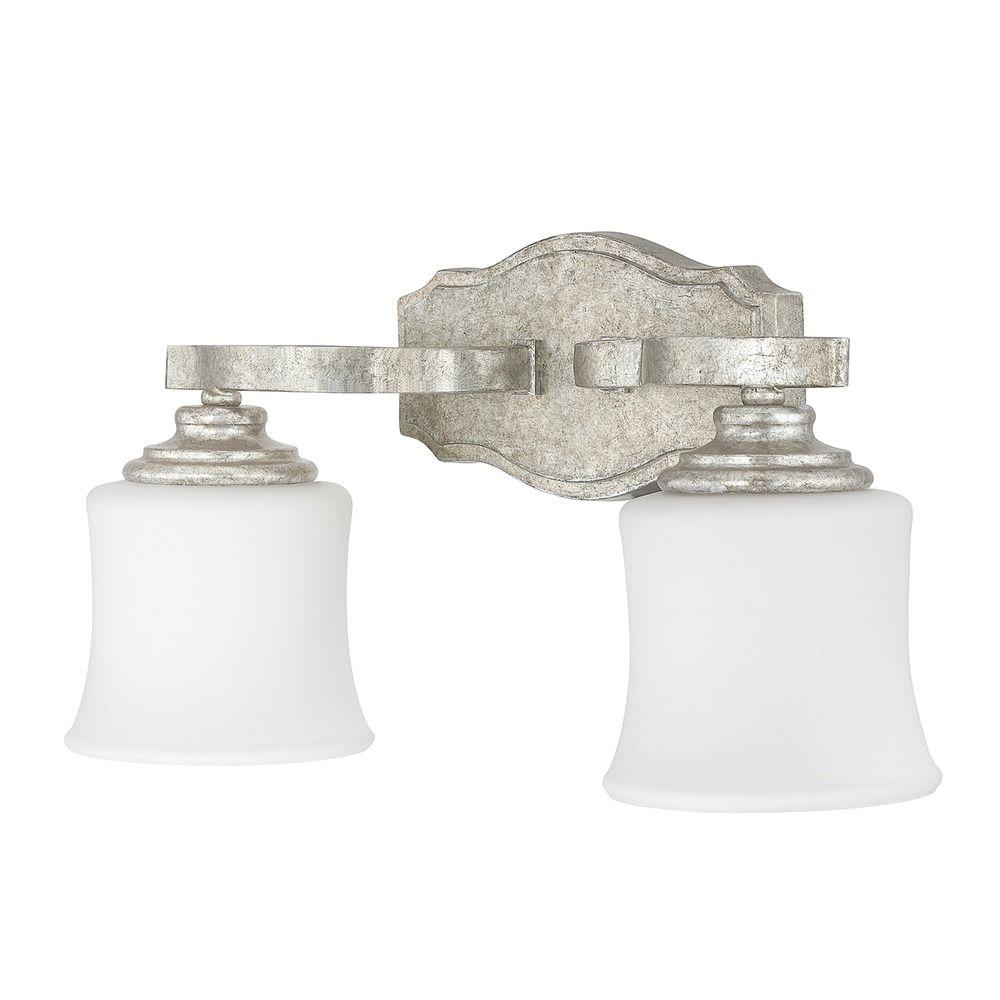Silver Crystal Wall Lights : Capital Lighting Blair Antique Silver Bathroom Light 8552AS-299 Destination Lighting