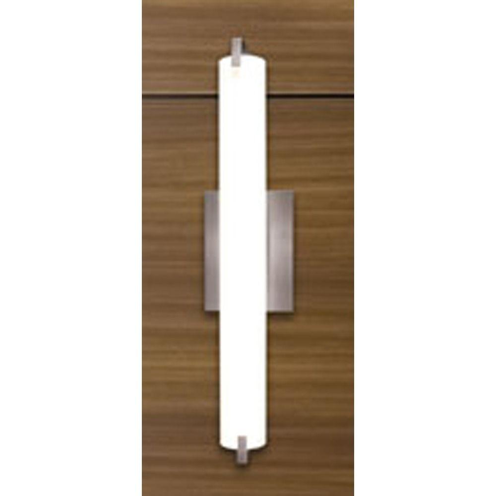 Elf Satin Nickel LED Bathroom Light Vertical Or Horizontal - Horizontal bathroom light fixtures