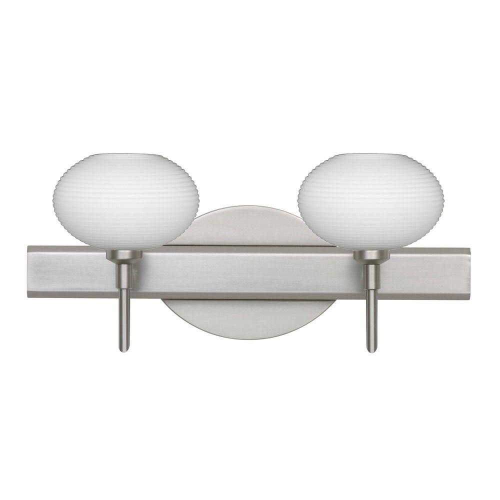 Besa Lighting Lasso Satin Nickel Led Bathroom Light 2sw 561207 Led Sn Destination Lighting