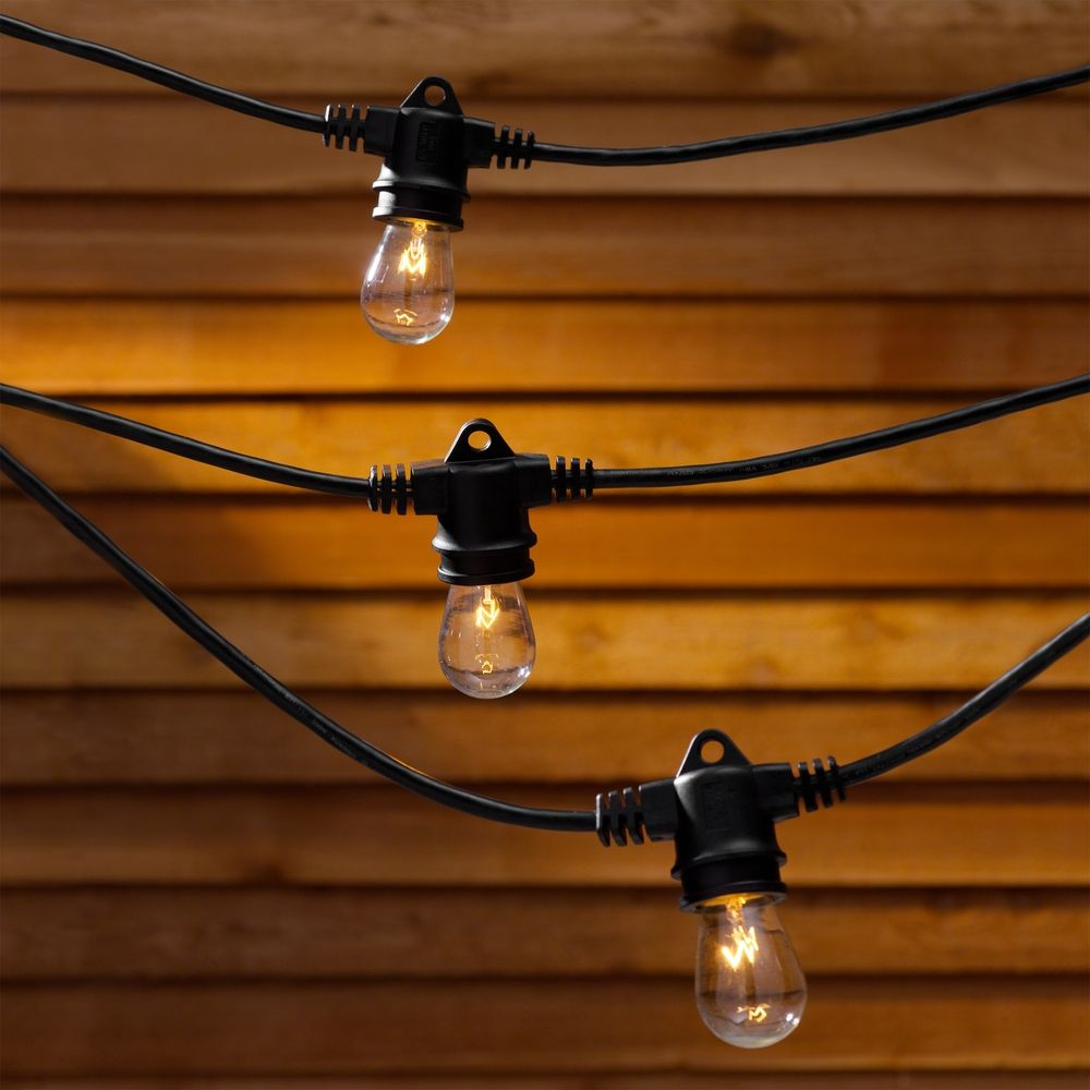String Lights - 35 Feet Long with 7 Light Bulbs Included 357 Destination Lighting