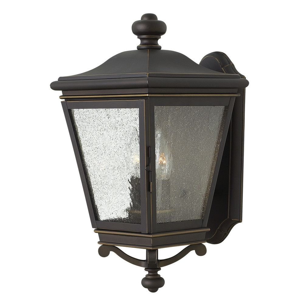 Seeded Glass Outdoor Wall Light Oil Rubbed Bronze Hinkley