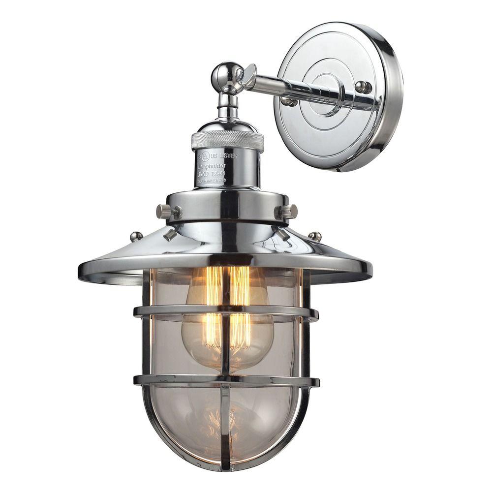 Elk Lighting Sconce: Elk Lighting Seaport Polished Chrome Sconce