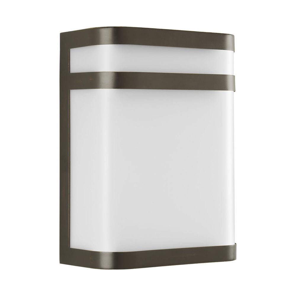 Progress Modern Outdoor Wall Light With White In Antique