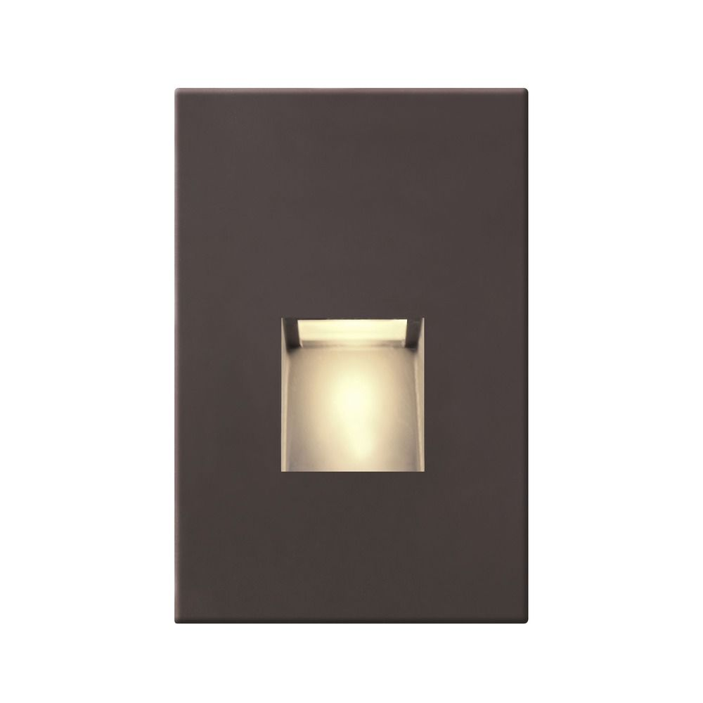 bronze led recessed step light steplt01 bz destination