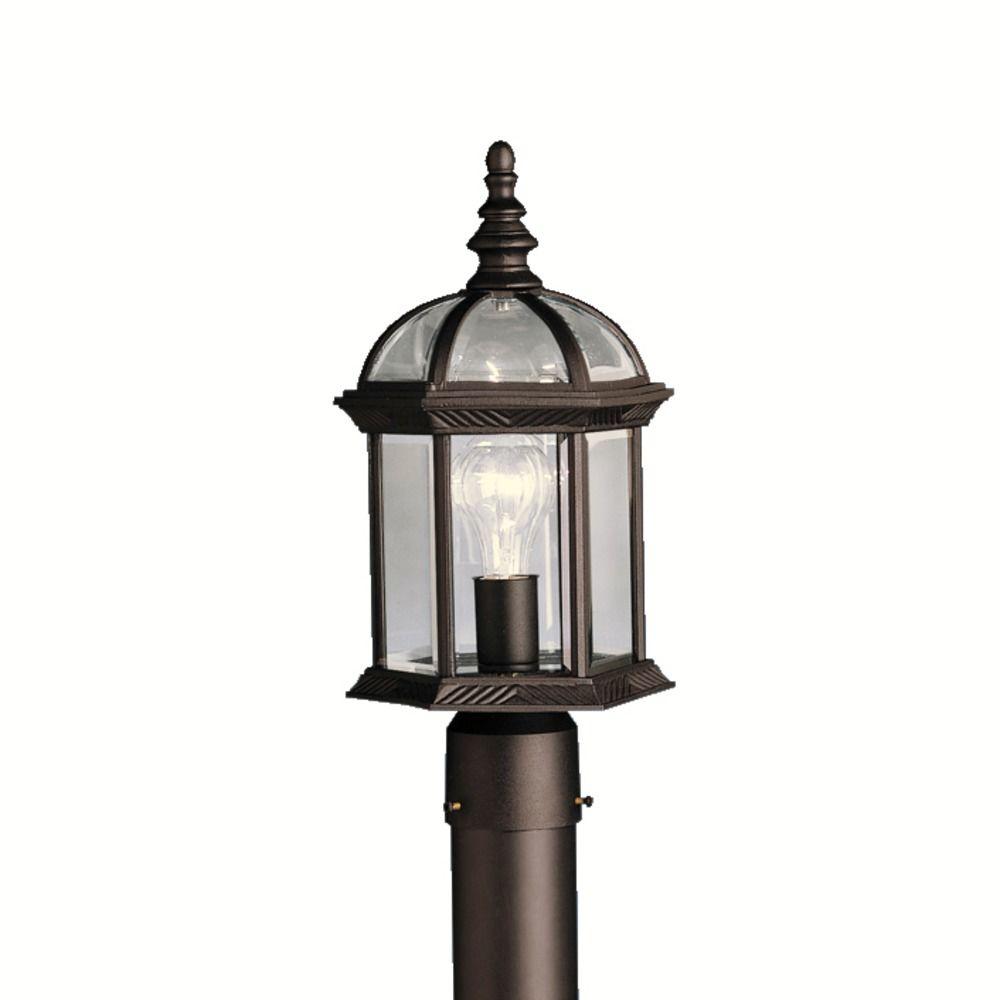 Kichler Lighting Barrie Black LED Post Light 9935BKL16 Destination Lighting