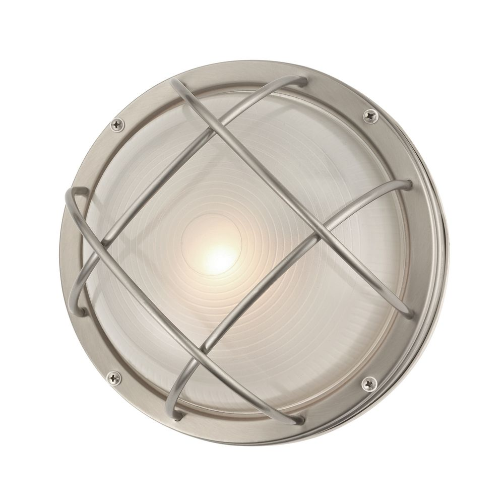 Marine Bulkhead Round Outdoor Wall / Ceiling Light - 10-inches Wide 39556 SS Destination ...