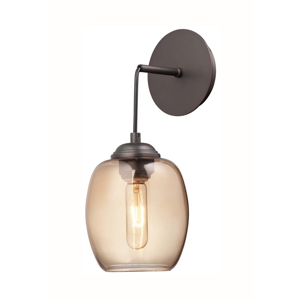 Wall Pendant Light: Modern Sconce Wall Light In Copper Bronze Patina Finish