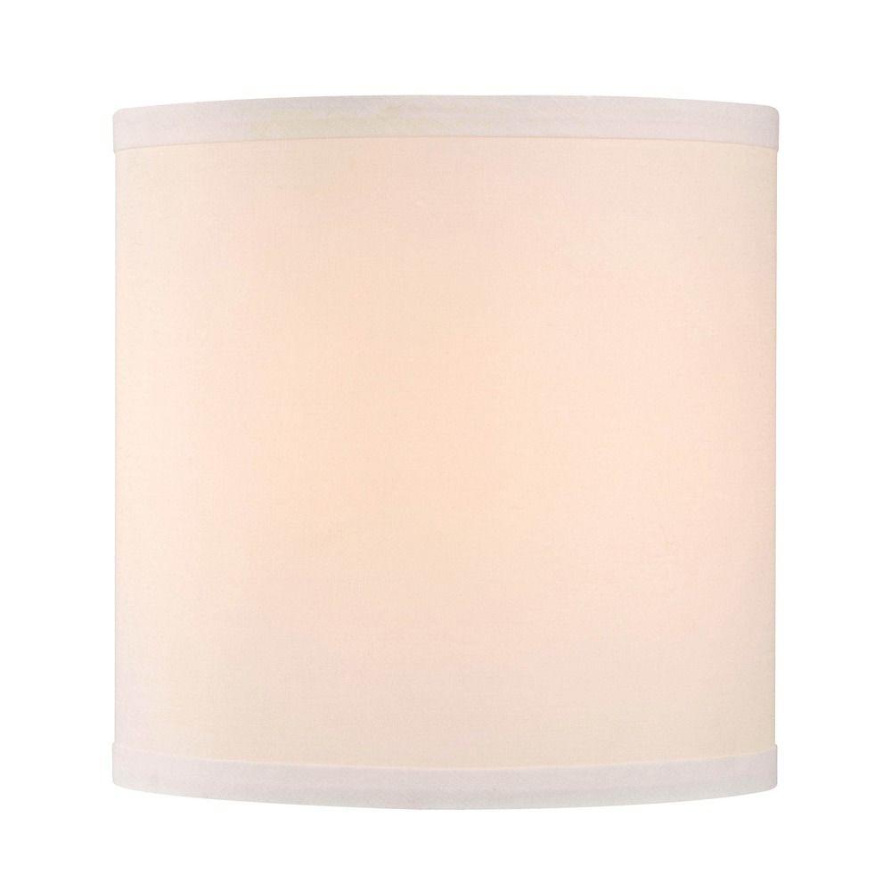 design classics lighting white linen drum lamp shade sh9552. Black Bedroom Furniture Sets. Home Design Ideas