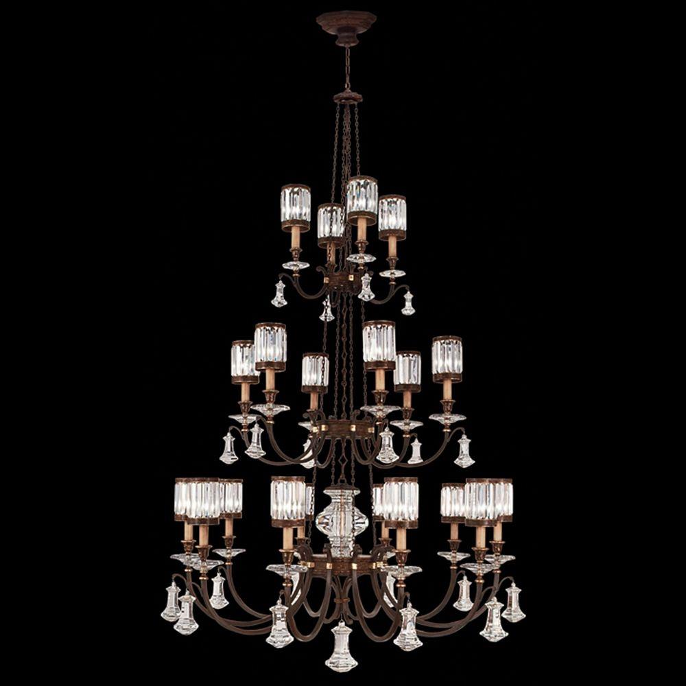 Fine Art Lamps Eaton Place Rustic Iron Crystal Chandelier 584840ST Destin