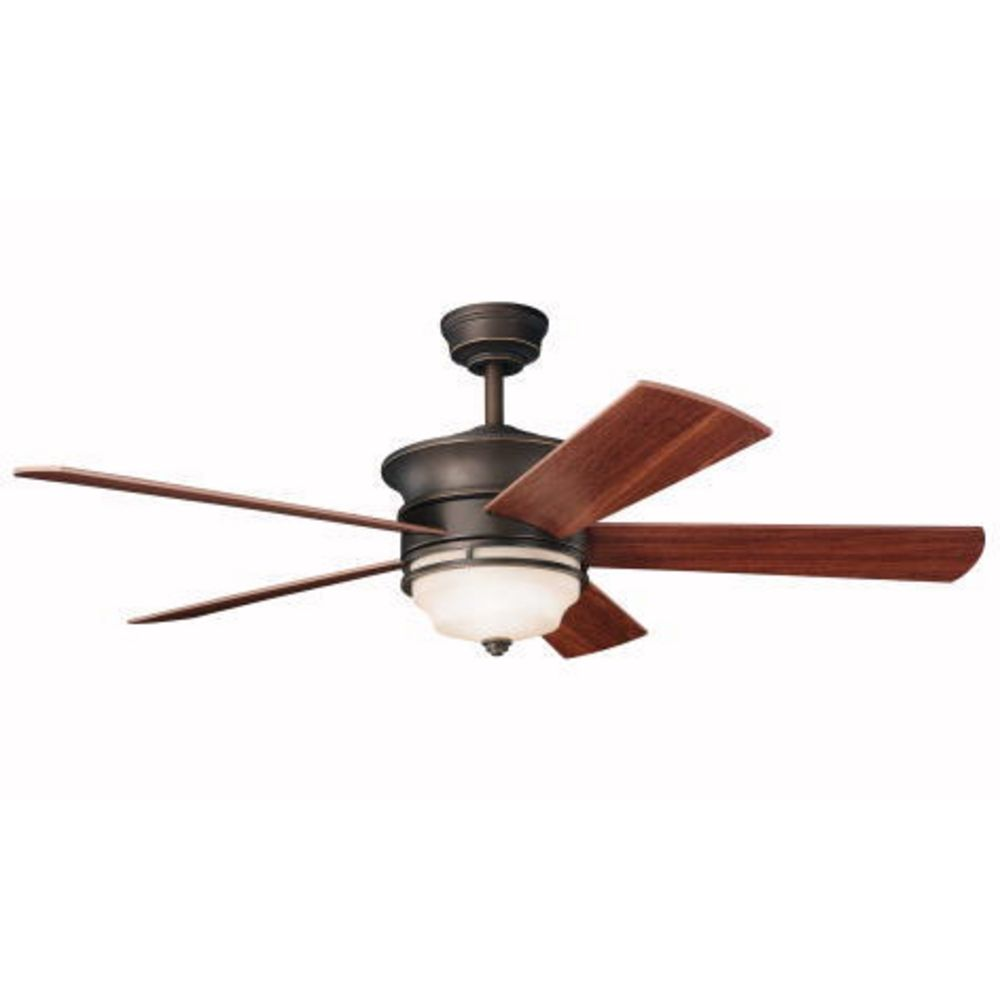 lighting kichler 52 inch ceiling fan with five blades and light kit. Black Bedroom Furniture Sets. Home Design Ideas